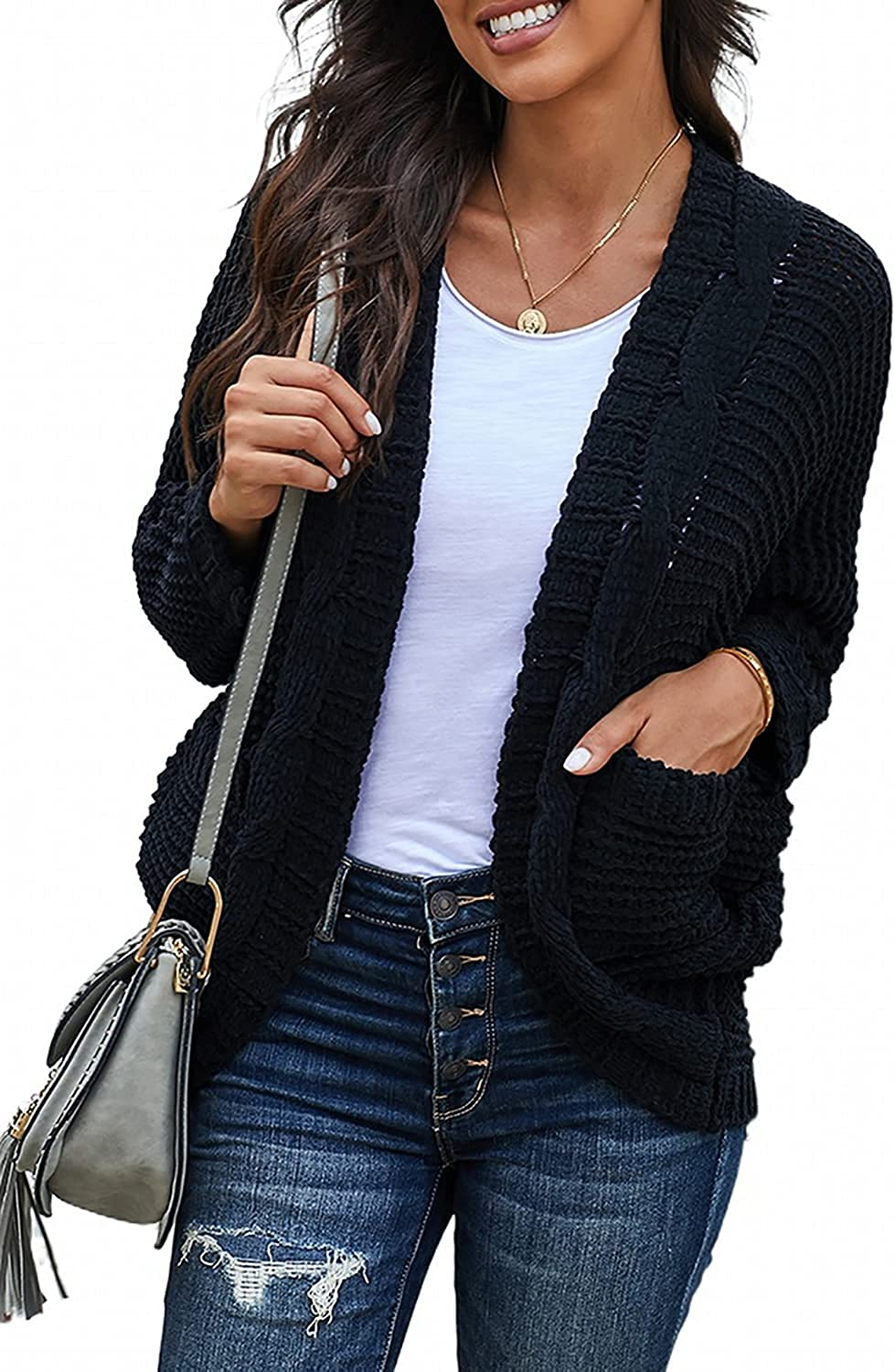 Recommendation Sidefeel Womens Long Sleeve Be super welcome Chunky with Po Cardigan Sweater Knit