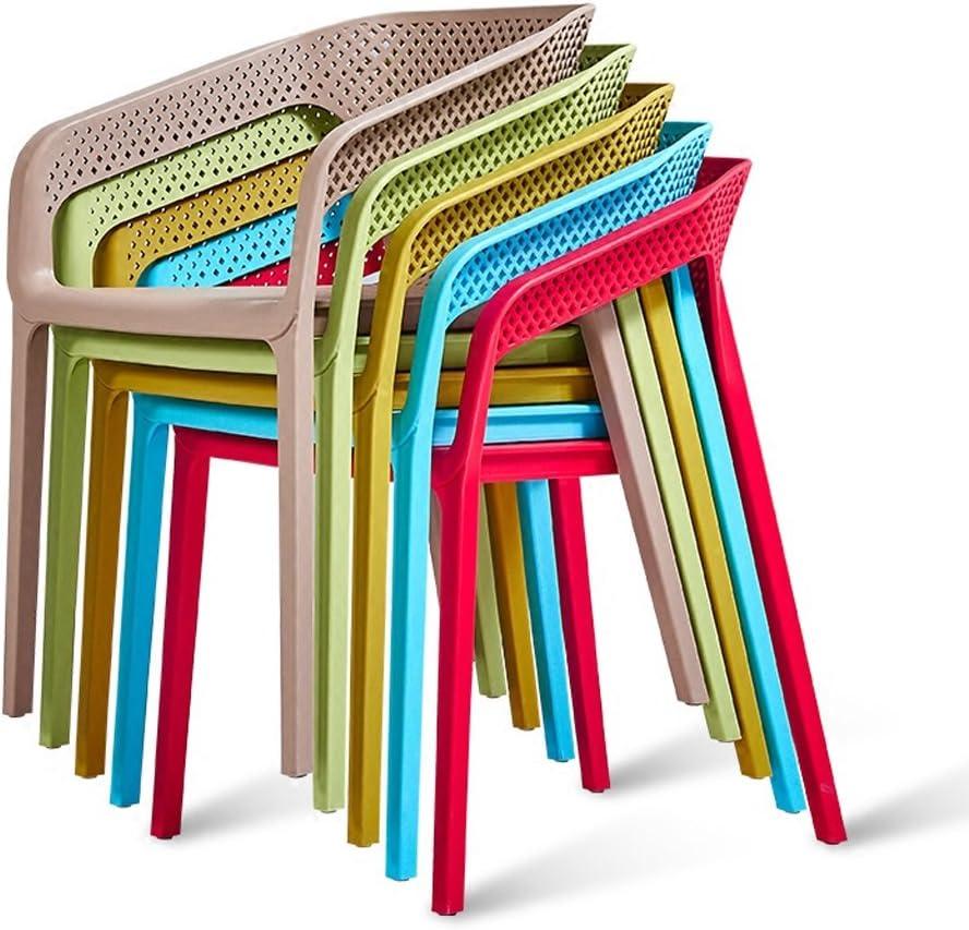 Simple loisir chaise de conversation accoudoir à la maison chaise à manger chaise d'ordinateur (Couleur : B) C