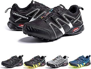 Zapatillas De Trail Running Impermeables para Hombre Mujer Zapatillas Trekking Zapatos Senderismo Deporte Negro Blanco Tal...