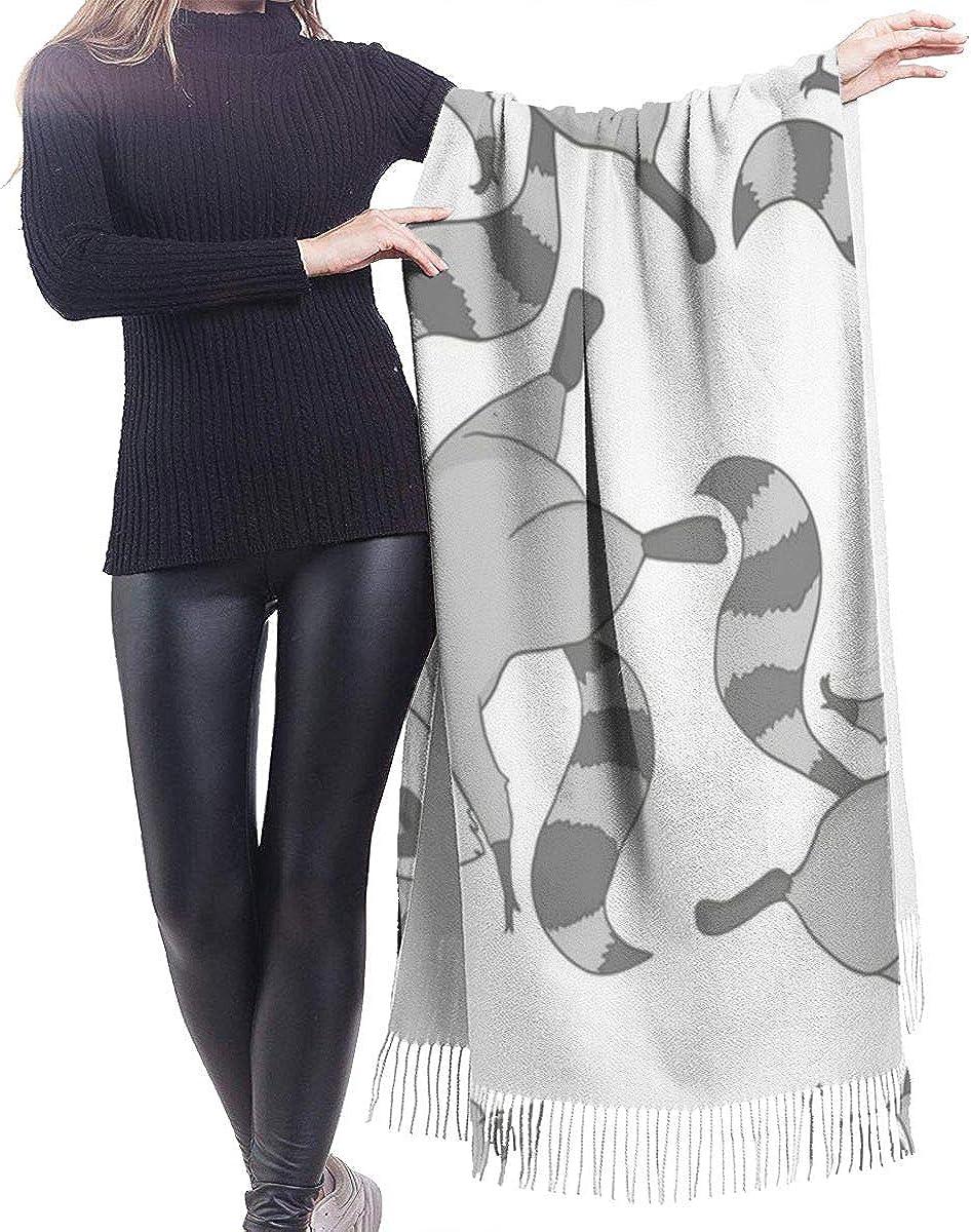 Raccoon Cute Cashmere Shawl Wrap Scarf Large Warm Scarf For Women