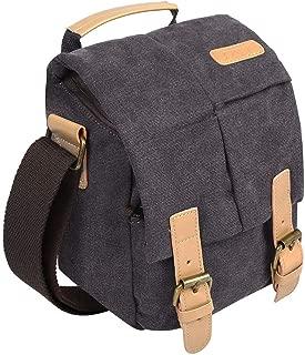 S-ZONE Waterproof Camera Bag Canvas Leather Trim DSLR SLR Camera Messenger Bag