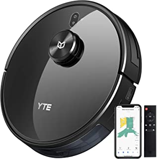 YTE X580 Robot Vacuum, Robotic Vacuum Cleaner with Lidar Navigation & Smart Mapping, 2700Pa Suction, Scheduled & Zone Clea...