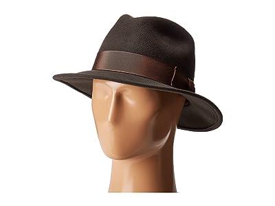 Country Gentleman Frederick Wide Brim Fedora Hat (Slate) Caps