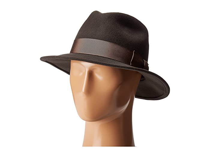Country Gentleman Frederick Wide Brim Fedora Hat (Slate) Caps