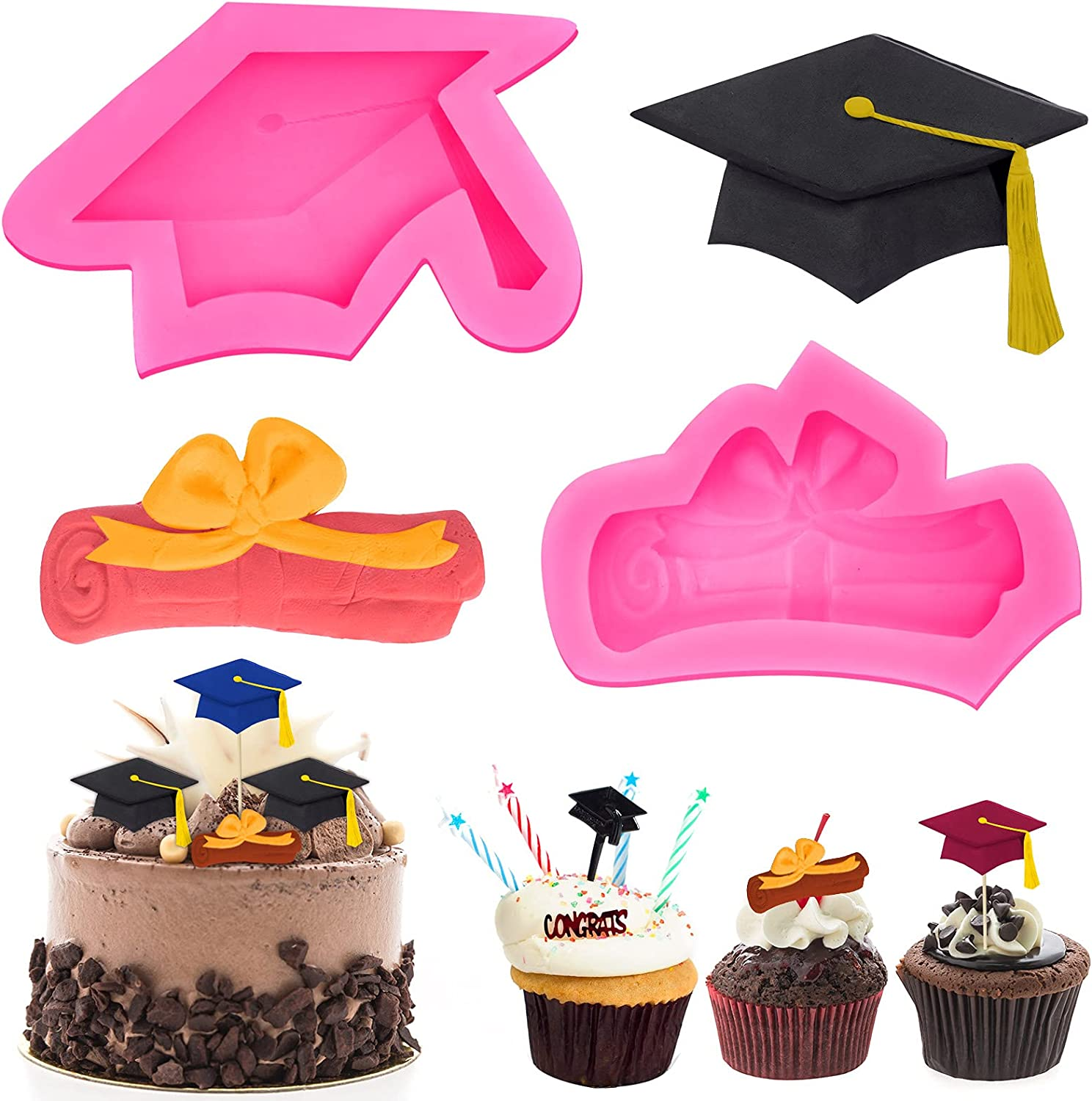 Graduation Over item handling Silicone Mold for Chocolate 2 Cap Dip Non Stick Max 48% OFF Pack