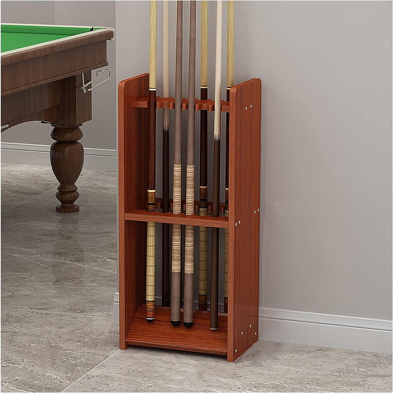Pool Cue Racks Holders Floor 5 Genuine Free Shipping ☆ very popular Stand Wooden Billiard Storag