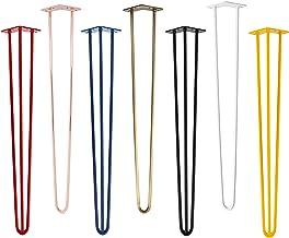 4x Natural Goods Berlin Hairpin Leg tafelpoten, 12 mm staal, vele kleuren, alle maten, 30 cm/2 stutten, zwart