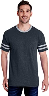 Men's Tri-Blend Varsity Ringer Tee Shirt