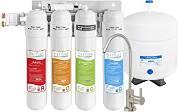 METPURE Versatile Quick Twist Filters Reverse Osmosis Water Filtration System - 4 Stage RO Water Filter System With Faucet   Under Sink Water Purifier For Clean Drinking Water & Simple Set Up - 50 GPD