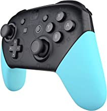 eXtremeRate Heaven Blue Replacement Handle Grips for Nintendo Switch Pro Controller, Soft Touch DIY Hand Grip Shell for Nintendo Switch Pro - Controller NOT Included