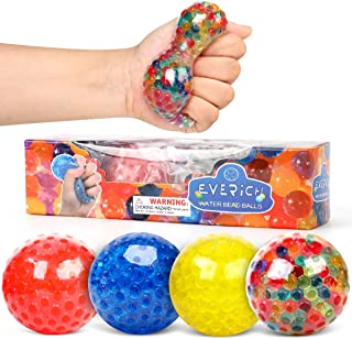 EVERICH TOY Stress Relief Toys for Kids(Set of 4)-Squeezing Squishy Stress Ball for Anxiety ADHD-Sensory Ball Toys with Water Beads (Stress Ball)