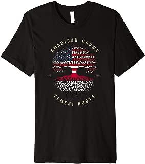 American Grown Yemeni Roots Yemen Flag Premium T-Shirt