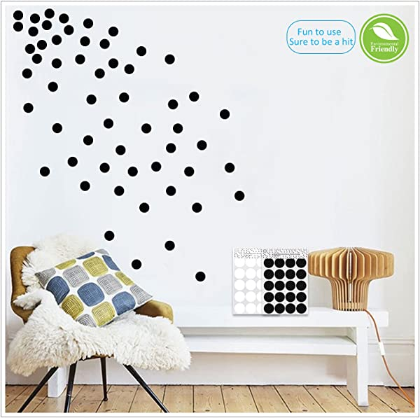 Light Up World Black Wall Decals Polka Dots Vinyl Stickers Circle Art Wall Decor Self Adhesive Dots Removable Hanging Decorations For Nursery Room Or Bedroom 200 Decals Circles