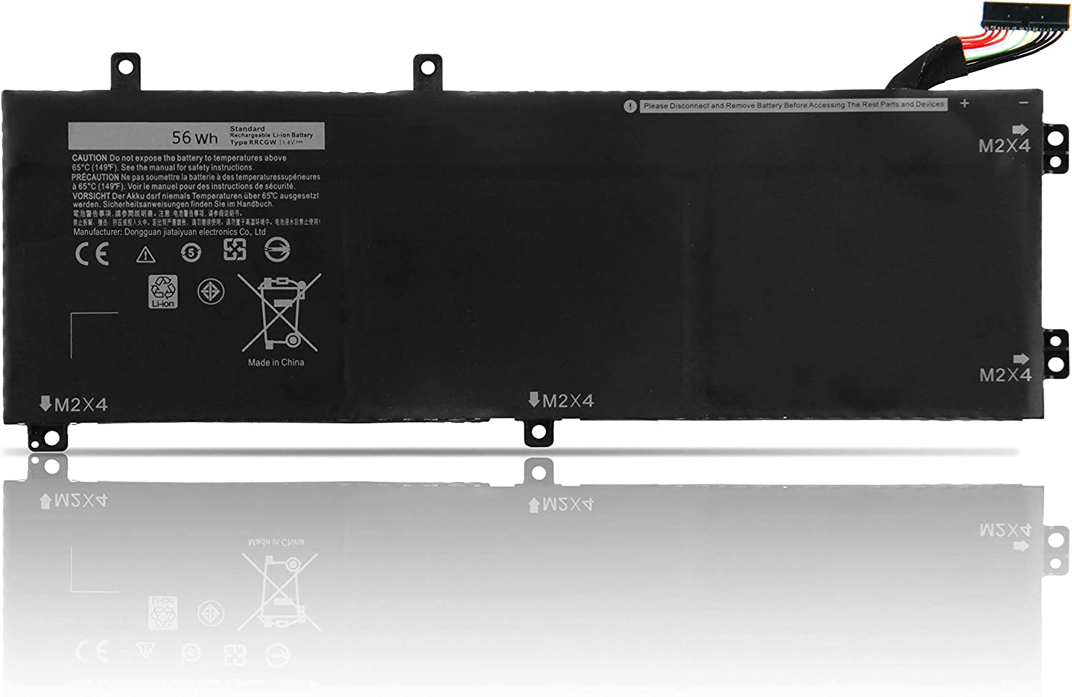 Fully RRCGW Replacement Laptop Battery Compatible with Dell XPS 15 9550 Precision 5510 RRCGW M7R96 62MJV - 11.4V 56Wh