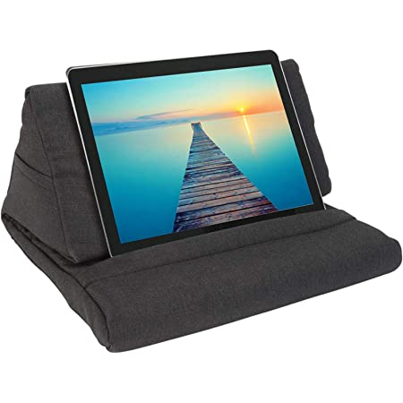 Books Mobile Phone eReaders Black ZGWJ Pillow Stand Tablet Pillow Holder Soft Pillow Lap Stand for Tablet Magazines