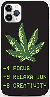Toothsome Studios Weed Leaf Pixel Art iPhone 11 TPU Case RPG Video Game Stats Phone Sleeve