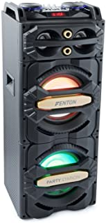 Fenton LIVE2101 – Enceinte de soirée à LED, idéale pour soirées à la maison et karaokés, 800 Watts, LEDs intégrées, SD et ...