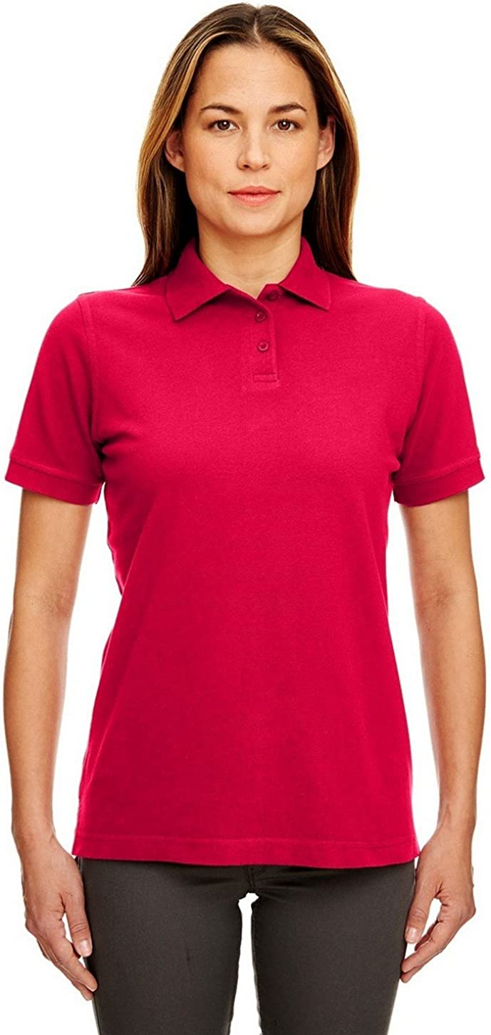 UltraClub 8530 Ladies Classic S-Sleeve Pique Polo Red XXX-Large