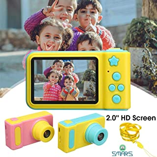 Smars® Mini Digital Children's Kids Camera 2 Inch IPS HD Screen 100 Degree Toy Photography Video Kids Camera for Kids Gift