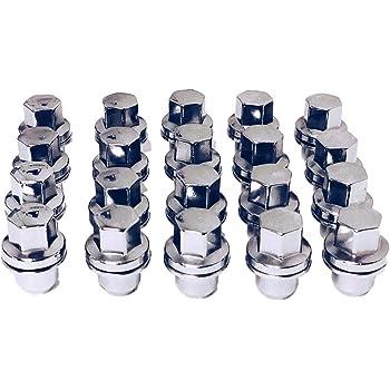 Set of 20 Eisen Chrome OEM Factory Style Lug Nuts for Land Range Rover HSE Sport LR3 LR4 Factory Stock Wheels