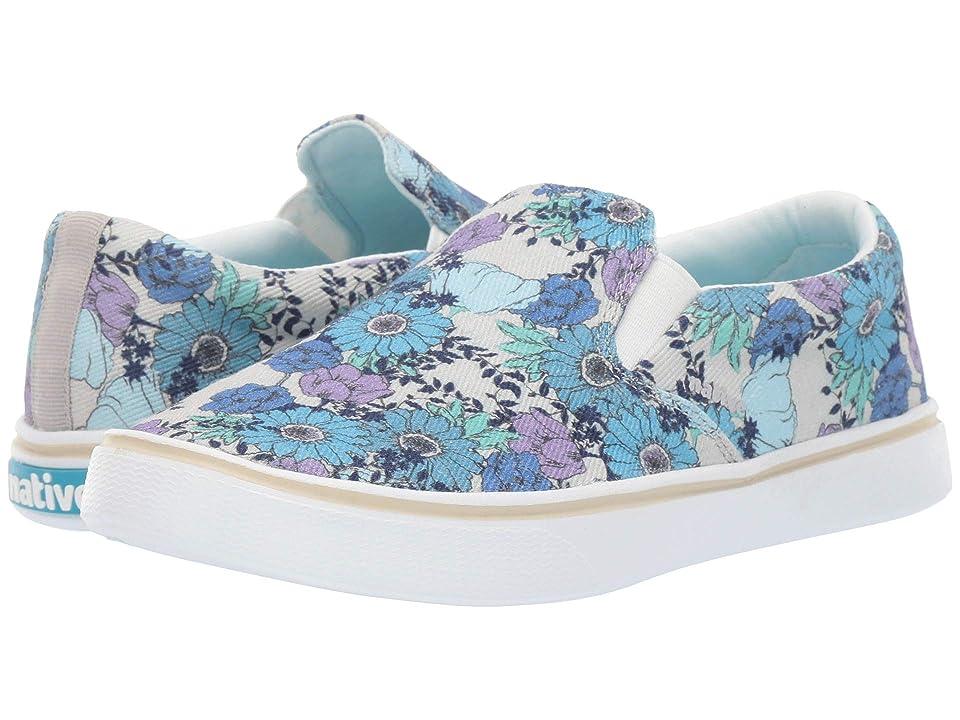Native Shoes Miles Denim Print (White Canvas/Shell White/Jardin) Shoes