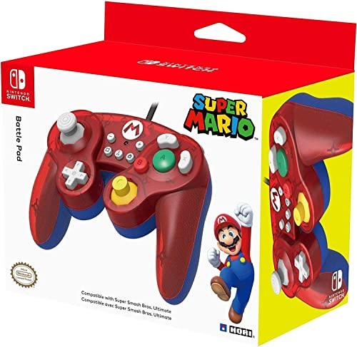 Nintendo Switch Battle Pad (Mario) GameCube-Style Controller by HORI - Officially Licensed by Nintendo