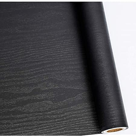 Black Wood Self Adhesive Paper Sticky Back Plastic Roll for Furniture 40cm X 500cm Easy to Clean and Use Thickened Upgrades Decorated Kitchen Worktop Sticker Christmas Decorations