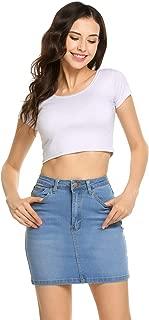 Best denim skirt stretch Reviews