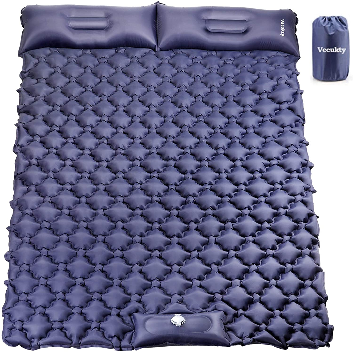 VECUKTY Double Luxury Camping Sleeping Max 49% OFF Pad Foot Press Inflata Upgraded