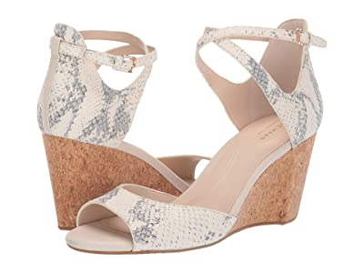Cole Haan Sadie Grand Open Toe Wedge Sandal (Chalk Snake Print) Women