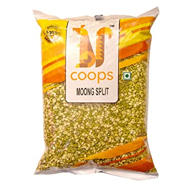 Coops Moong Split Dal 1KG - Hygienically Packed 1 KG Split Moong Pouch
