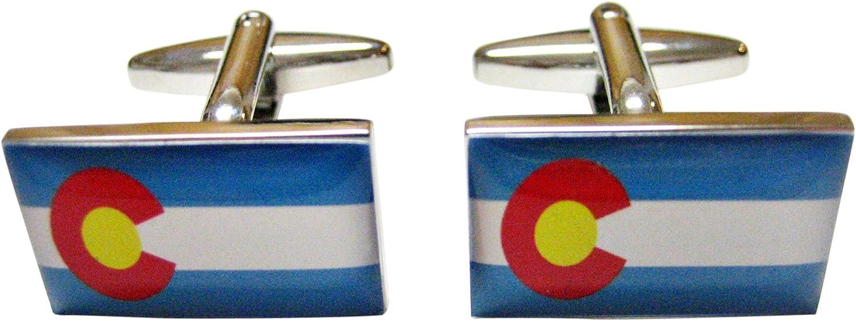 Kiola Designs Colorado State Flag Cufflinks