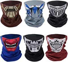 Bundle Monster Bike Half Face Mask, Motorcycle Shield Clothing, Various Colors & Graphics, for Costumes & Outfits, for Hiking, Ski, Cycling, Hunting and Outdoor Activities, Comfortable Polyester - 6pc