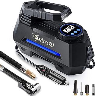 AstroAI Portable Air Compressor Pump, Tire Inflator with Gauge 12V DC Digital Car Air..