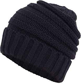 Simplicity Unisex Chunky Soft Knitted Warm Winter Beanie Hat