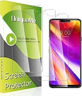 [3 Pack] UniqueMe Screen Protector for LG G7 Tempered Glass, HD Clear Anti-Scratch Screen Protector with Lifetime Replacement Warranty