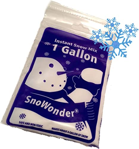 SNOWONDER Instant Artificial Snow - Mix Makes 1 Gallon - Home Decor - Children's Play - Seasonal Accents - Great Gift...
