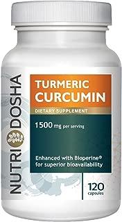 1500 mg Active Curcuminoids in 95% Standardized Turmeric Curcumin Extract with Bioperine® for Maximum Absorbency - Highest Potency Ayurveda Curcuma Longa Tumeric Root Powder,2 pills per svg (120 CT)