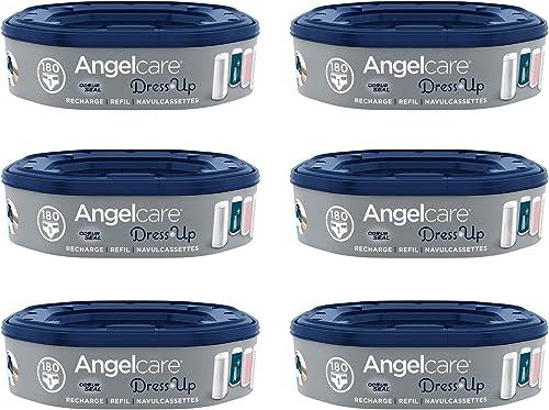 Angelcare - Dress Up - Recharges Octogonales pour Poubelle à Couche Dress up/Essential - Anti Odeurs et Grande Capaci...