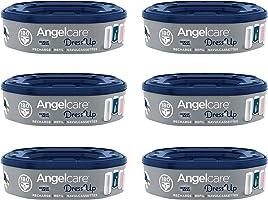 Angelcare - Dress Up - Recharges Octogonales pour Poubelle à Couche Dress up/Essential - Anti Odeurs et Grande Capacité...