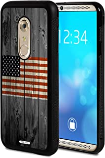 Moto G4 Case, Moto G4 Plus Case,AIRWEE Slim Shockproof Silicone TPU Back Protective Cover Case for Motorola Moto G4 / G4 Plus,American Flag on Old Wooden Board