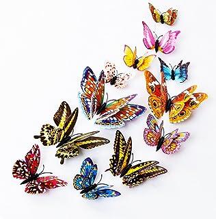DAGOU 12 PCS 3D Luminous Butterfly Wall Stickers Decor Art Decorations,Butterfly Wall..