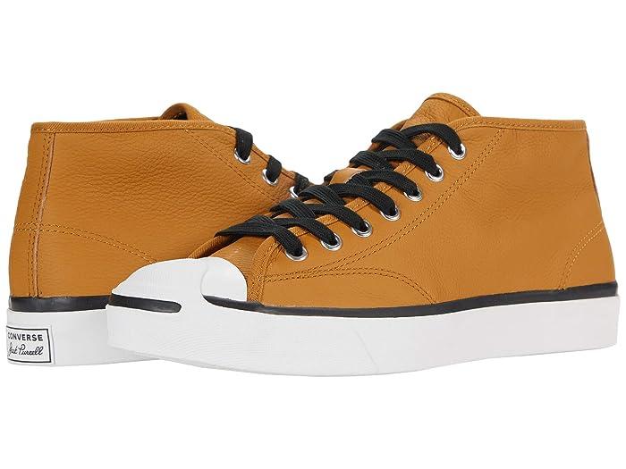 1930s Men's Shoe Styles, Art Deco Era Footwear Converse Jack Purcellr Leather Mid $74.95 AT vintagedancer.com