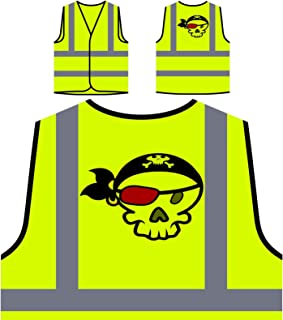 Pirate Captain Sea Ocean Funny Man Personalized Hi Visibility Yellow Safety Jacket Vest Waistcoat d950v