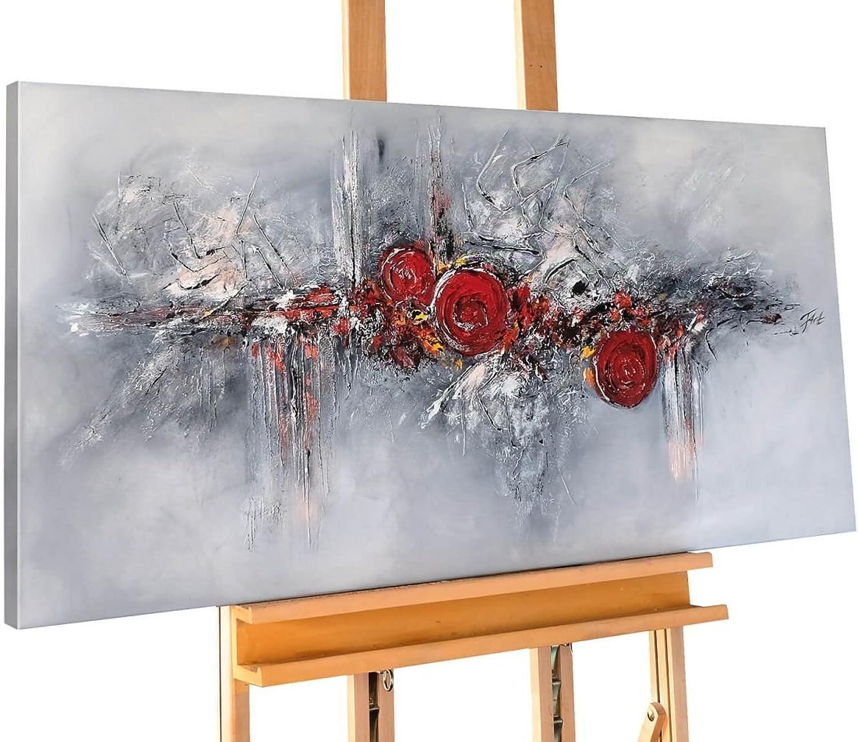 KunstLoft® Acryl Gemälde \'Pearls and Rosas\' 120x60cm ...
