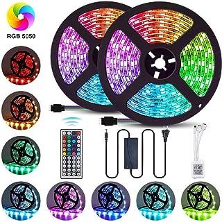 Tira LED, ZORSEN 10M(2x5M) Tira de Luces LED 5050 RGB 300