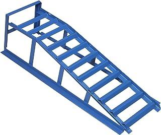 cartrend Oprijplaat, blauw, draagkracht 1000 kg, voor banden tot 195 mm breedte, met overrijbeveiliging, 1 stuk, hefbrug, ...
