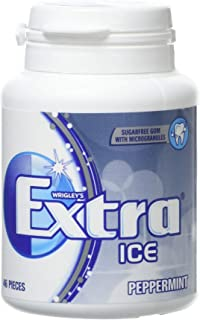 Wrigley's Extra Ice Peppermint Sugarfree Chewing Gum 46 Pieces (Pack of 6)