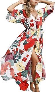 YouKD Wemon's Summer Long Kaftan Bohemian Maxi Kimono Dress Swimsuit Beach Cover Up Robes