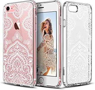 ESR iPhone 7 Case, Floral Flower Pattern Cover for Girls/Women [Anti Scratch PC Back + Soft Bumper] for iPhone 7 4.7